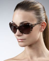 Dior - Oversized Faceted Sunglasses, Panther - Lyst