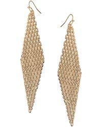 French Connection Mesh Chain Drop Earrings - Lyst