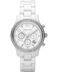 MICHAEL Michael Kors Runway Ceramic Small Watch - Lyst