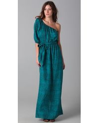 Rebecca Taylor Python Print One Shoulder Maxi Dress - Lyst