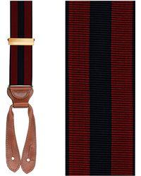 Trafalgar Stripe Suspenders - Burgundy/ Navy - Lyst