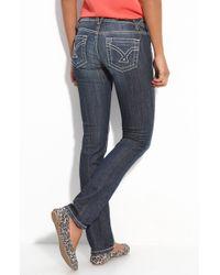 Vigoss Thick Stitched Straight Leg Jeans - Lyst