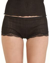 Zimmerli Fantasy High Rise Panty black - Lyst