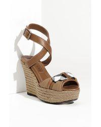 Burberry Wedge Sandal - Lyst