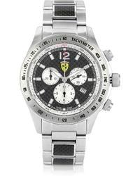 Ferrari - Scuderia Ferrari Chrono Carbon Watch - Lyst