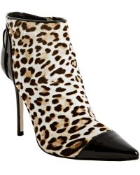Jimmy Choo  Print Pony Hair Bidder Ankle Boots - Lyst