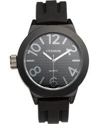 Titanium Rubber Strap Chronograph Watch - Lyst