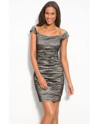 Alex Evenings Stretch Taffeta Cocktail Dress - Lyst