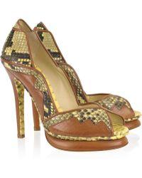 Alexandre Birman - Peep-toe Python Court Shoes - Lyst