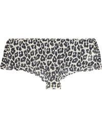 3.1 Phillip Lim Leopard-print Stretch-silk Chiffon Briefs - Lyst