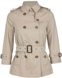 Burberry Short Trench - Lyst