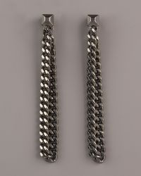 Giles & Brother - Hanging Chain Earrings - Lyst