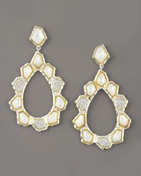 Kara Ross - Nugget Teardrop Earrings - Lyst