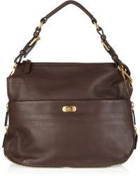 Marni Textured-leather Shoulder Bag - Lyst