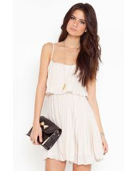 Nasty Gal Sweet Pleat Dress - Lyst