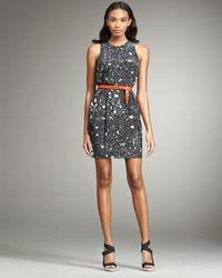 3.1 Phillip Lim Belted Splatter-print Dress - Lyst