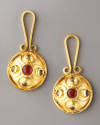 Stephanie Anne Contessa Drop Earrings gold - Lyst