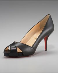 Christian Louboutin Shelly Leather Pump - Lyst