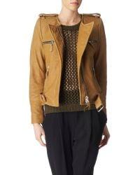 Isabel Marant Leather Biker Jacket - Lyst