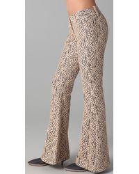 Georgie - Ashley Lace Bell Bottom Pants - Lyst