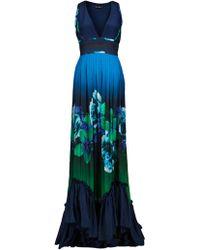 Roberto Cavalli Lombok Print Dress blue - Lyst