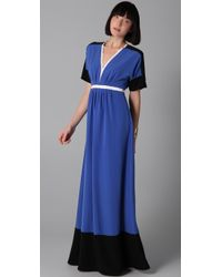 Sachin & Babi Brady Colorblock Maxi Dress - Lyst