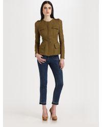 Alexander McQueen Cotton Silk Jacket - Lyst