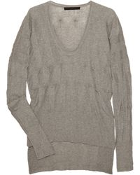 Alexander Wang Asymmetric Paneled Cotton Sweater - Lyst