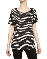 Proenza Schouler Tie Dye Striped Cotton Jersey T-shirt - Lyst