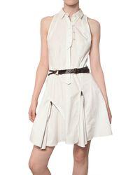 Proenza Schouler Zipped Cotton Poplin Dress - Lyst