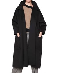 Rochas Double Faced Wool Coat - Lyst