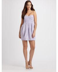 Shoshanna Strapless Mini Dress - Lyst