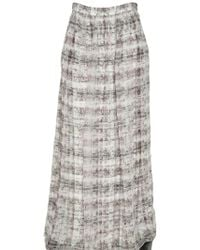 Theyskens' Theory Double Layered Printed Silk Skirt - Lyst