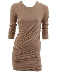 3.1 Phillip Lim Long Sleeve Pleat Draped Dress - Lyst