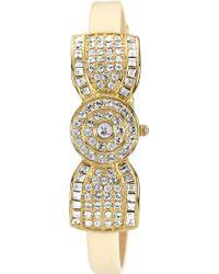 Badgley Mischka   Crystal Bow Watch   Lyst