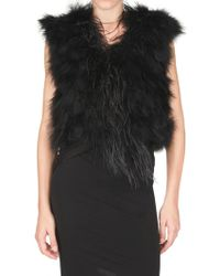 Gaowei+Xinzhan - Marabou Feathers Vest - Lyst
