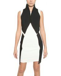 Gareth Pugh Neoprene, Viscose & Leather Dress - Lyst
