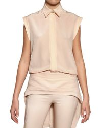 Givenchy Crepe De Chine Shirt pink - Lyst