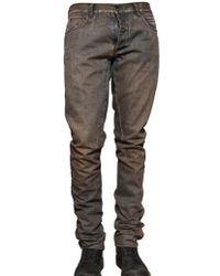Rick Owens - 18cm Waxed Denim Selvedge Jeans - Lyst