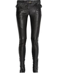 Balmain Stretch-leather Skinny Pants - Lyst