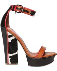 DSquared² 150mm Leather & Pony Skin Sandals - Lyst
