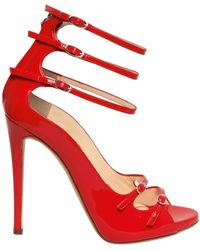 Giuseppe Zanotti 120mm Patent Strappy Sandals red - Lyst