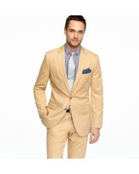 J.Crew - Ludlow Two-button Suit Jacket with Center Vent in Italian Chino - Lyst
