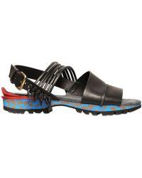 Lanvin - Brushed Calfskin Sandals - Lyst