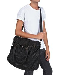 Officine Creative - Textured Calfskin Weekender Bag - Lyst
