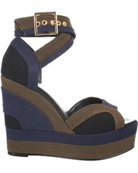 Pierre Hardy Multicolored Canvas Wedge Sandals - Lyst