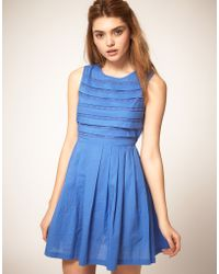 ASOS - Summer Dress with Pleated Lace Bodice - Lyst