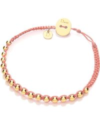Daisy London - Daisy Friendship Bracelet in Coral - Lyst