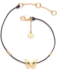 Daisy London - Daisy Good Karma Double Heart Bracelet - Lyst
