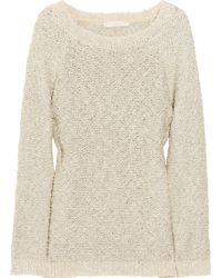 Vanessa Bruno Metallic Open-knit Sweater - Lyst